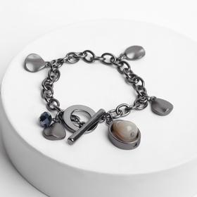 "Bracelet Assorti ""Chain"" alchemy, 18cm, black grey in black metal"