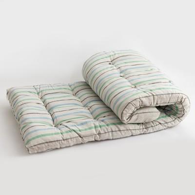 Cotton mattress 90x190 sm cm, teak, 100% cotton