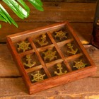 "The box is wooden ""Sea"" (TIC TAC toe) 2,8х16х16 cm"