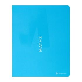 Тетрадь предметная Color theory, 48 листов в клетку «Математика», обложка мелованный картон, матовая ламинация, выборочный лак, со справочным материалом