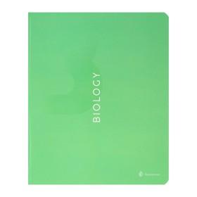 Тетрадь предметная Color theory, 48 листов в клетку «Биология», обложка мелованный картон, матовая ламинация, выборочный лак, со справочным материалом