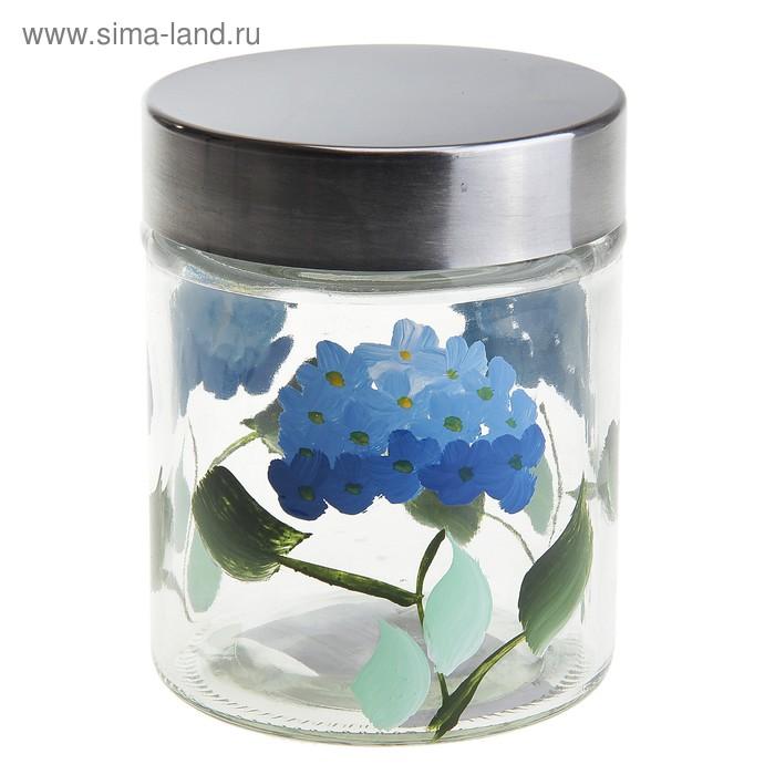 """Банка для сыпучих продуктов 600 мл """"Васильки"""""""