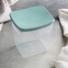 Ёмкость для сыпучих продуктов квадратная IDEA, 1 л, цвет фисташковый
