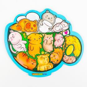 Пазл-головоломка «Коты в кружке»