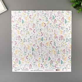 """Paper for scrapbooking """"Mr.Painter"""", """"Floral Paradise"""" 190 g/sqm 30.5 x 30.5 cm 1"""