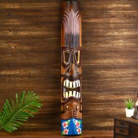 "Маска ""Абориген с цветами"" дерево 15х6х100 см"