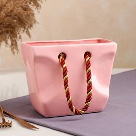 "{{photo.Alt || photo.Description || 'Органайзер ""Сумочка"", розовая, ручки микс, керамика, 16 см'}}"