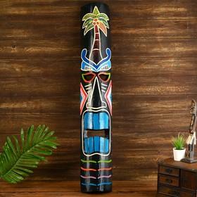 """Маска """"Абориген с пальмой"""" дерево 15х6х100 см"""