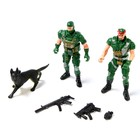 "A set of toy soldiers ""Partners"""