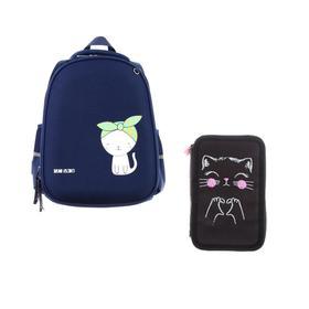 Рюкзак каркасный Bruno Visconti 38 х 30 х 20 см, Happy Cat, синий