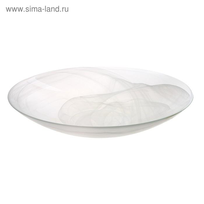 """Блюдо 42 см """"Голландия. Алебастр"""", цвет белый"""