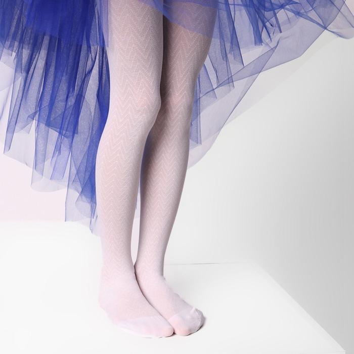 Колготки детские ЭРА «Галочки», цвет белый, рост 128-134 (6-8 лет)