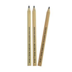 Набор 3 штуки карандаш чернографитный Koh-I-Noor 1538, 4B Jumbo, эскизный, плоский (1295209)