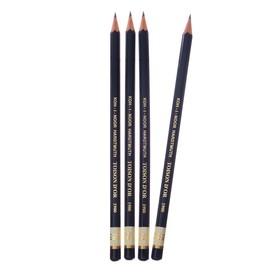 Набор чернографитных карандашей 4 штуки Koh-I-Noor, профессиональных 1900 7Н (2474710)