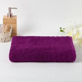 Полотенце махровое 30х60 см, фиолетовый, хлопок 100%, 400г/м2