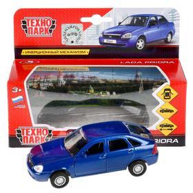 Машина металлическая, инерционная «Lada Priora. Хэтчбек» синий, 12 см, открывающиеся двери