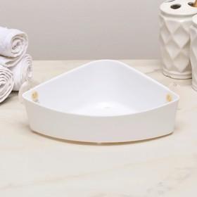 Полка навесная угловая Krita, 22,5×15 ×7 см, цвет снежно-белый Ош