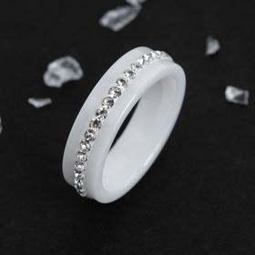 "Кольцо керамика ""Орион"", цвет белый, 20 размер"