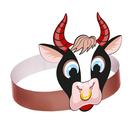 """Mask-bezel """"Bull ring"""", cardboard"""