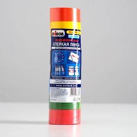 Клейкая лента для маркировки и творчества UNIBOB 19мм х 10м разноцветная 8 шт