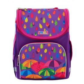 Ранец Стандарт Smart PG-11, 34 х 26 х 14, для девочки, Kapitoshka, фиолетовый