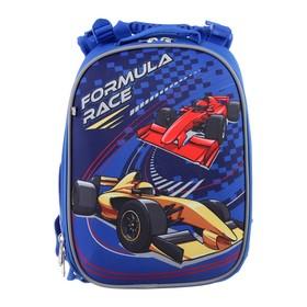 Рюкзак каркасный YES H-25 35*26*16 мал Formula Race, синий 556185