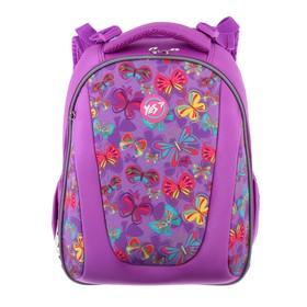 Рюкзак каркасный YES H-28 38*29*15 дев Butterfly dance, сиреневый 557733