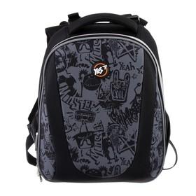 Рюкзак каркасный YES H-28 38*29*15 мал Funny monster, серый 557732
