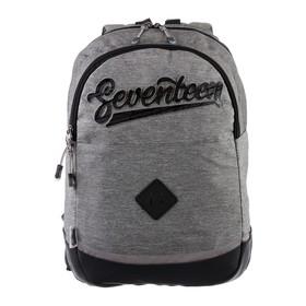 Рюкзак молодёжный Seventeen, 43 x 29 x 12 см, эргономичная спинка, 3D тиснение