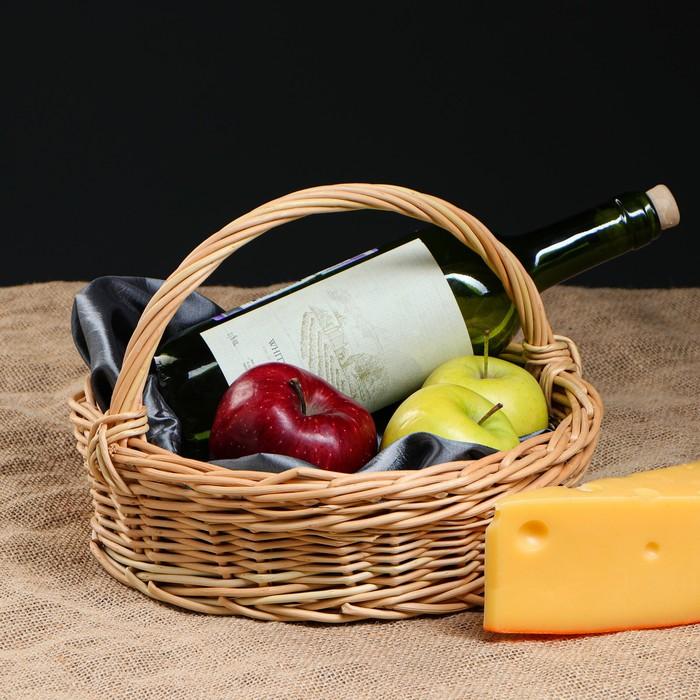"Корзина плетеная ""Подарок"", 28 х 30 х 23 см"