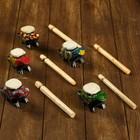 """Musical instrument """"Rattle-frog"""" MIX 17х6х4 cm"""