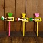 """Musical instrument """"Ratchet with a monkey"""" 12х4х20 cm"""