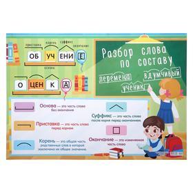 "Плакат ""Разбор слова по составу"" А2"