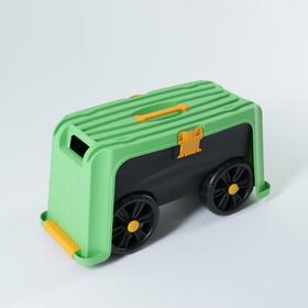 Скамейка на колесах 4 в 1 (зеленый/черный)