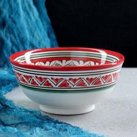 Braid porcelain Rishton, medium, 550ml the Naksh red