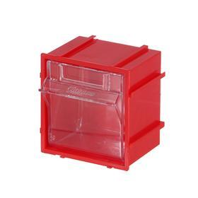 Короб откидной Стелла Single - 101 красный/прозрачный
