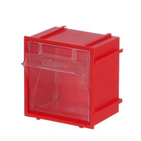 Короб откидной Стелла Single – 102 красный/прозрачный