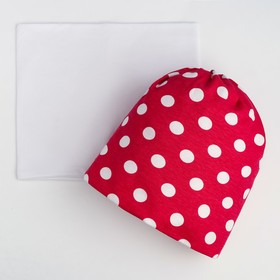 Комплект для девочки (шапка, снуд), цвет малиновый, размер 52-54