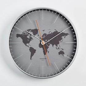 """Часы настенные, серия: Интерьер """"Материки"""", d=30.5 см"""