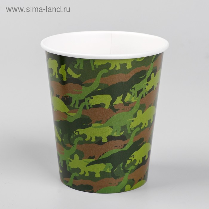 "Glass paper ""khaki dinosaurs"", 250 ml"