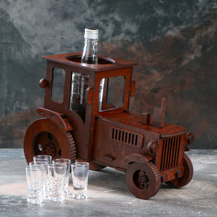 """Мини-бар деревянный """"Трактор"""", тёмный, 30 см - фото 362881"""