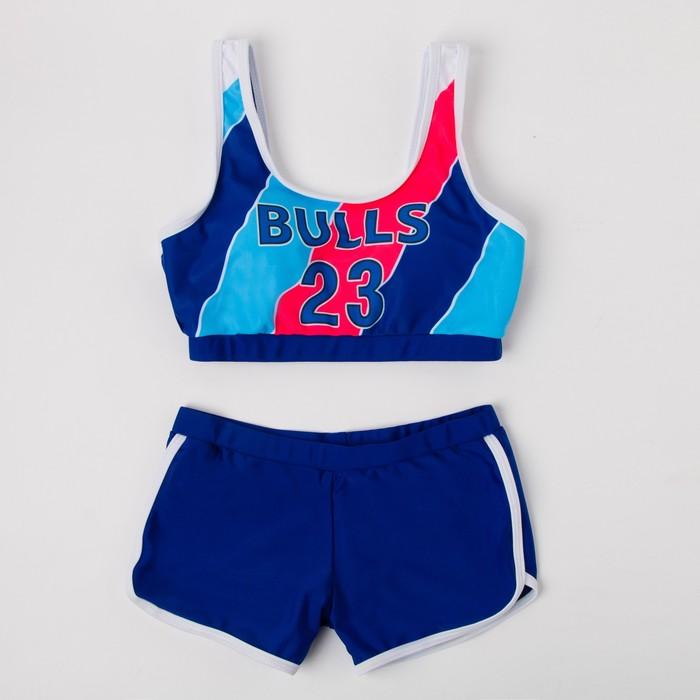 Купальник раздельный для девочек, цвет синий, рост 164 см