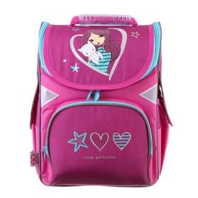Ранец Стандарт GoPack 5001S, 34 х 26 х 13, для девочки, Little princess, фиолетовый