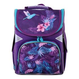 Ранец Стандарт GoPack 5001S, 34 х 26 х 13, для девочки, Colibri, фиолетовый