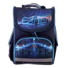 Ранец Стандарт Kite 501, 35 х 25 х 13, для мальчика Futuristic, синий