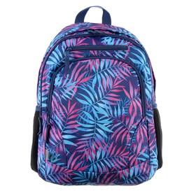 Рюкзак молодежный GoPack 132, 42 х 32 х 16, для девочки Tropical colours, фиолетовый