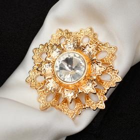 Magnet handkerchief Mimosa flower, white gold