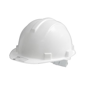 Protective helmet TUNDRA, for construction works, with textile headband, white