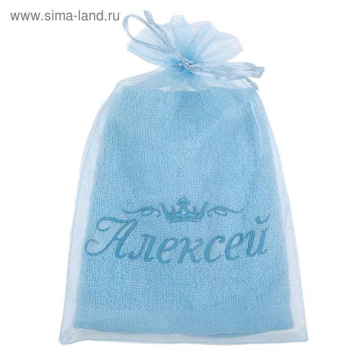 Полотенце с вышивкой 100% хлопок Алексей 32*70 см 370гр/м2