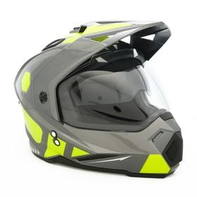 Шлем HIZER J6802, размер L, серый/желтый